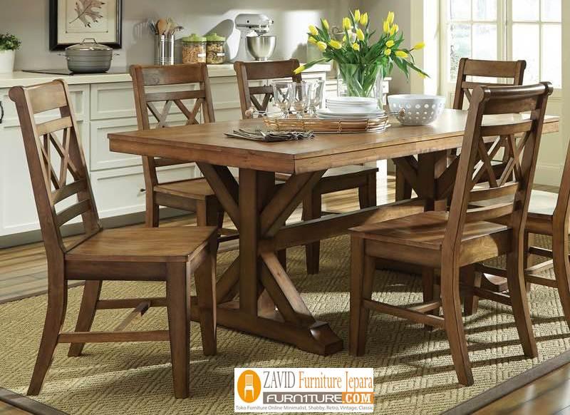 kursi-makan-kayu-jati-minimalis Jual Set Meja Kursi Makan Rustic Kayu Jati