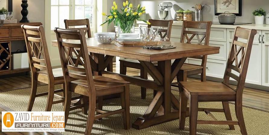 kursi-makan-kayu-jati-minimalis2 Jual Set Meja Kursi Makan Rustic Kayu Jati