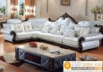 Jual Kursi Tamu Mewah Bogor Sudut Jati Putih Cantik