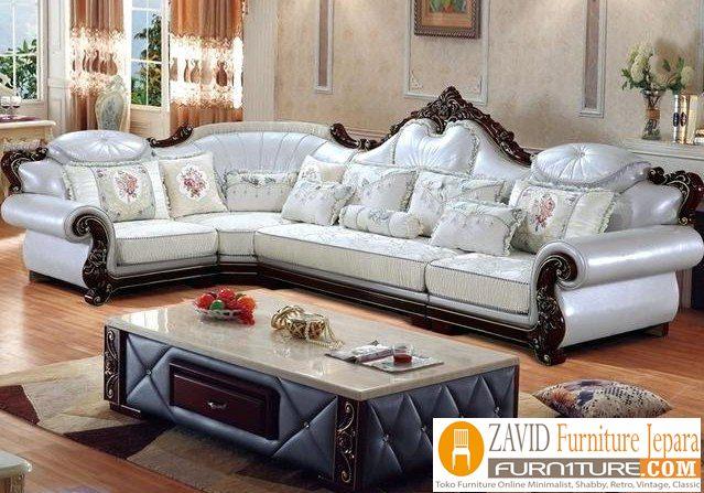 kursi-tamu-mewah-model-sudut Jual Kursi Tamu Mewah Bogor Sudut Jati Putih Cantik