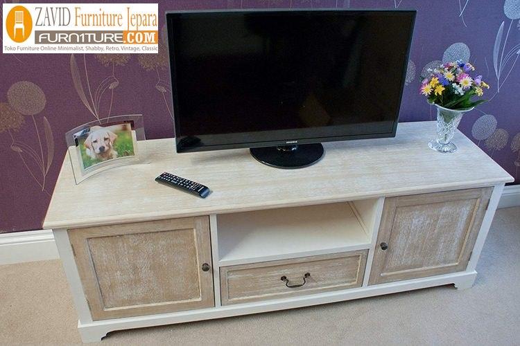 meja-tv-model-shabby2 Meja Tv Minimalis Model Shabby Kayu Solid Murah