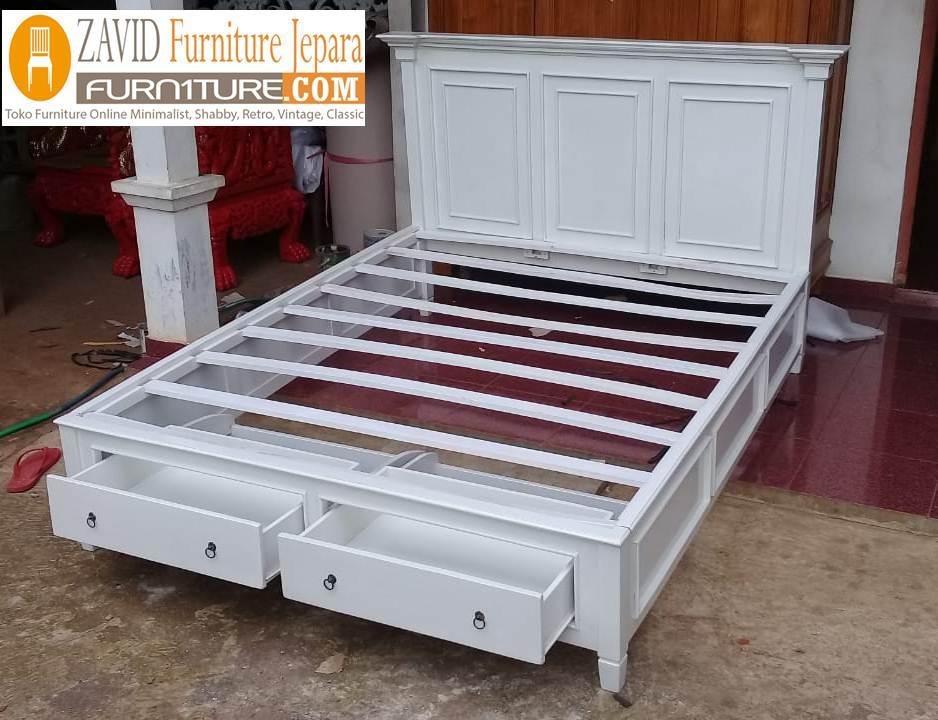 real-pict-tempat-tidur-laci-6 Jual Tempat Tidur Laci Model Dua Laci Bawah Cat Duco Terbaru