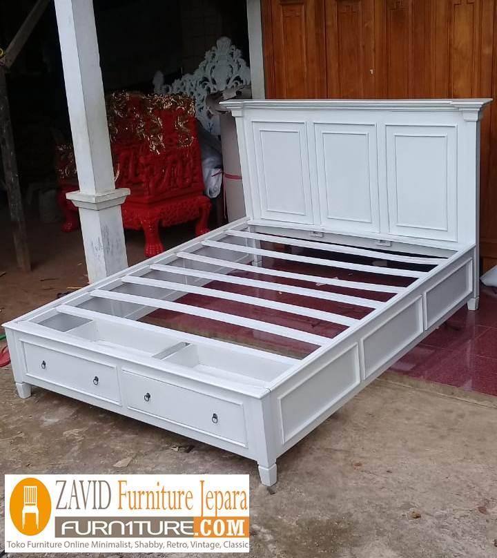 real-pict-tempat-tidur-laci-7 Jual Tempat Tidur Laci Model Dua Laci Bawah Cat Duco Terbaru