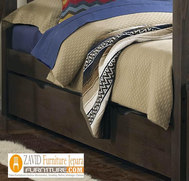 tempat-tidur-tingkat-minimalis3 Jual Tempat Tidur Anak Tingkat Kayu Jati Solid Minimalis Model Dua Ranjang