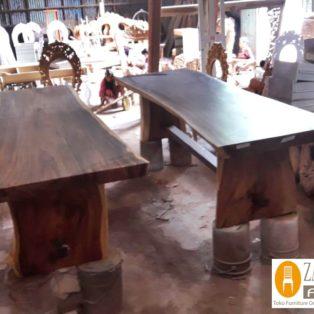 Meja Trembesi Kayu Tebal Kota Medan