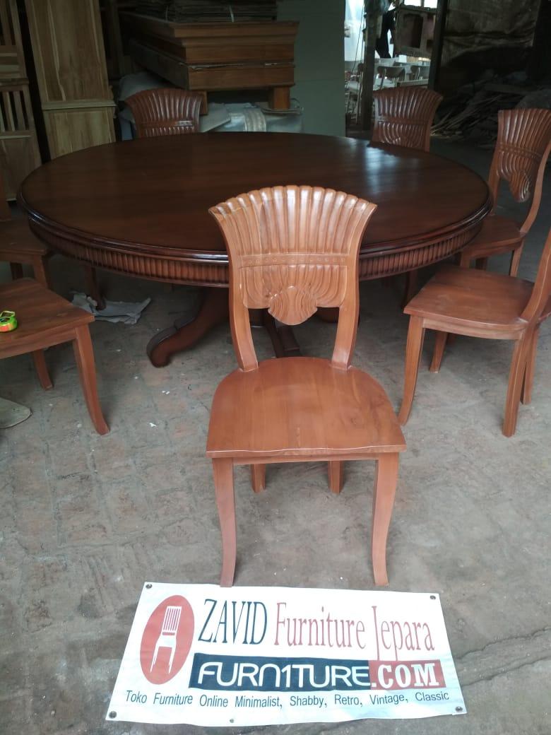 kursi-makan-klasik Jual Meja Makan Minimalis Madura Meja Bundar Kayu Jati