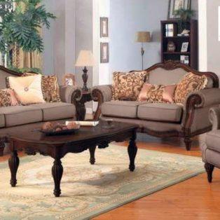 Kursi Tamu Mewah Bogor Kayu Jati Sofa Empuk