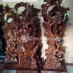 Jual Lemari Jam Hias Surabaya Model Piala Kayu Jati Ukiran Mewah