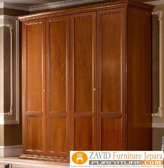 lemari pakaian kayu jati... - Jual Lemari Pakaian 4 Pintu Mewah Kayu Jati Model Terbaru
