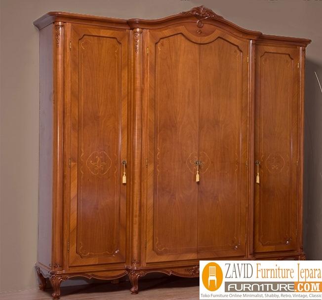 lemari pakaian kayujati 1 - Jual Lemari Pakaian 4 Pintu Mewah Kayu Jati Model Terbaru