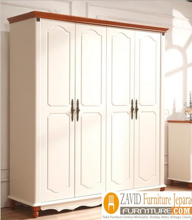 lemari pakaian minimalis - Jual Lemari Pakaian 4 Pintu Mewah Kayu Jati Model Terbaru