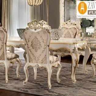 Set Meja Kursi Makan Mewah Madura Ukiran Cantik royal