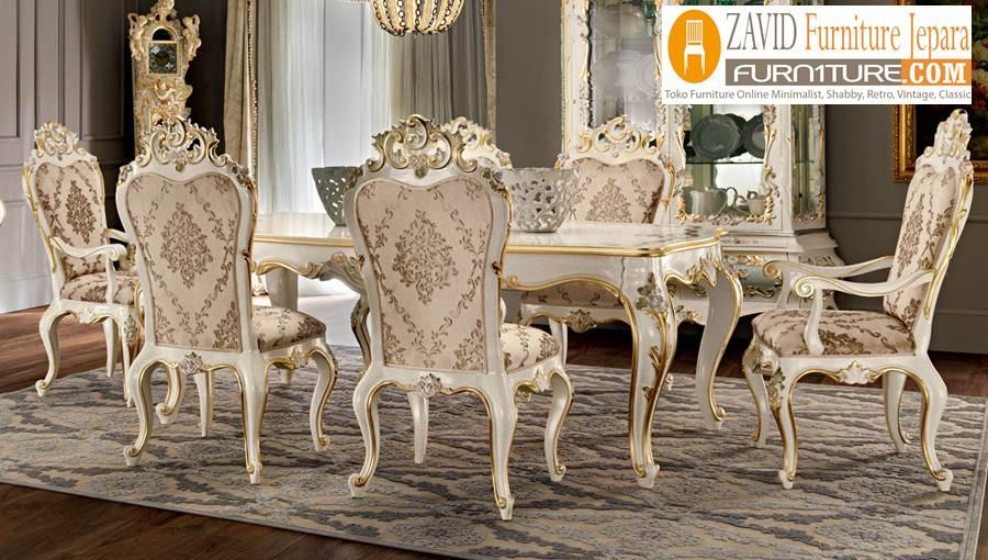 meja-kursi-makan-mewah Set Meja Kursi Makan Mewah Madura Ukiran Cantik royal