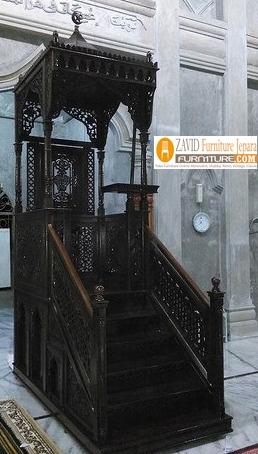mimbar-masjid Mimbar Masjid Kayu Jati Mewah Ukiran Relief Terbaru Kualitas Terbaik