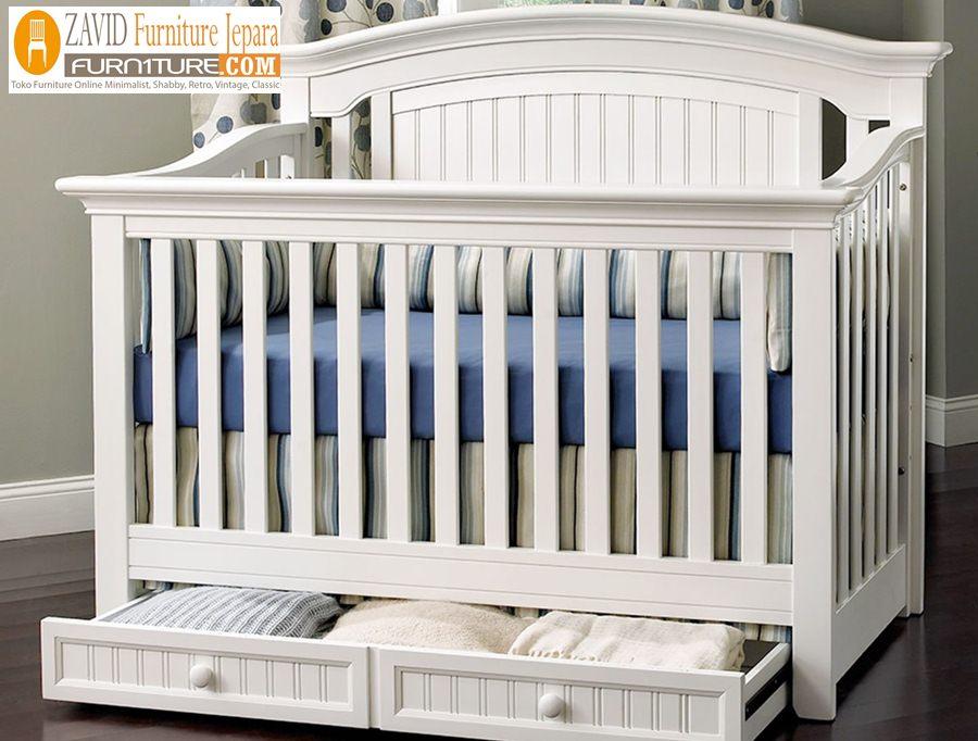tempat-tidur-bayi-laci Tempat Tidur Bayi Madura Sorong Warna Putih Duco