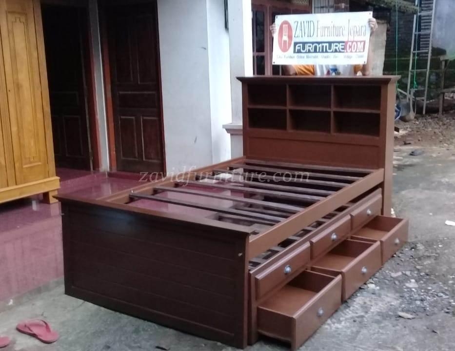 tempat tidur sorong laci 4 - Jual Tempat Tidur Sorong Kota Bali Model Sorong Berlaci Terbaru