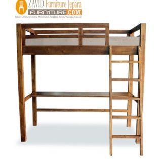 Tempat tidur Tingkat Pekalongan Satu Ranjang Minimalis