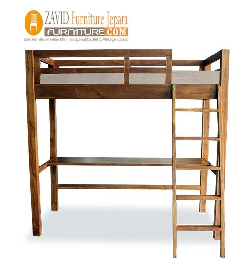 tempat-tidur-tingkat-satu-ranjang-1 Tempat tidur Tingkat Pekalongan Satu Ranjang Minimalis