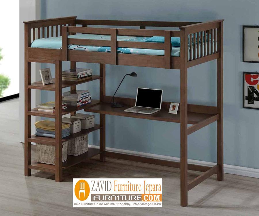 tempat-tidur-tingkat-satu-ranjang-2 Tempat tidur Tingkat Pekalongan Satu Ranjang Minimalis