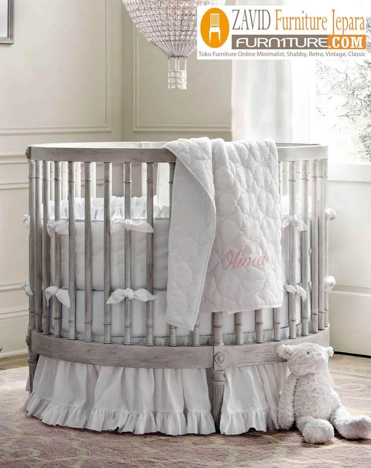 box bayi bundar putih - Jual Box Bayi Bekasi Kayu jati Model bundar Minimalis