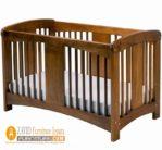 Jual tempat Tidur Bayi Cirebon Model Minimalis Kayu Jati