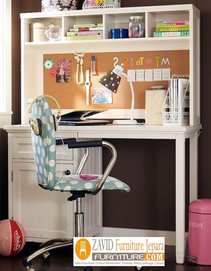meja-belajar-anak-perempuan Jual Meja Belajar Bekasi Anak Perempuan Putih Duco