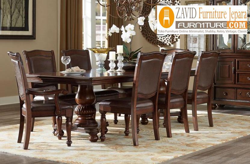 meja-kursi-makan-minimalis Meja Makan Bekasi Kayu Jati Minimalis Klasik Terbaru