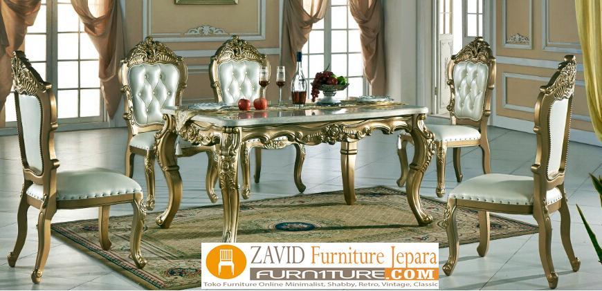 meja-makan-mewah-gold Jual Meja Makan Denpasar Model Mewah Ukiran Warna Gold