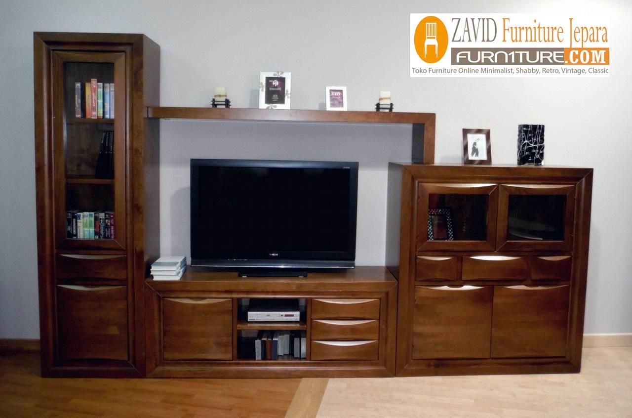 meja-tv-minimalis-kayu-jati Jual Meja Rak Tv Bekasi Kayu Jati Minimalis