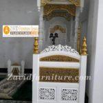 Jual Mimbar Masjid Tangerang Kayu Jati Ukiran Arab