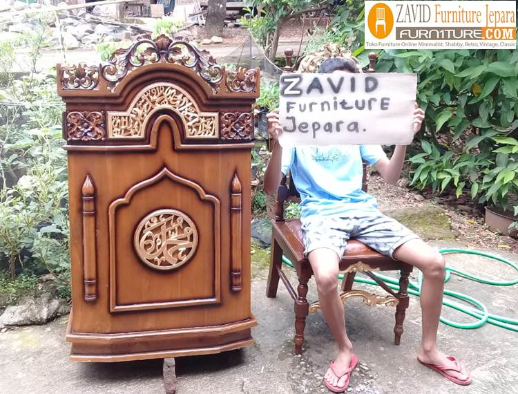 mimbar-masjid-minimalis-2 Jual Mimbar Masjid Denpasar Minimalis Kayu Jati Ukiran