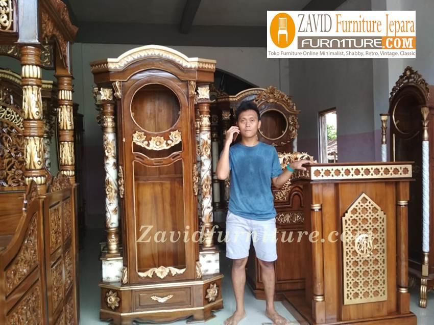 mimbar-masjid-real-pict Jual Mimbar Masjid Kota Bekasi Kayu Jati Minimalis Terbaru