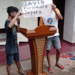 Jual Mimbar Podium Banten Minimalis Jati Motif Ukir Kawung