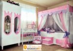 Tempat Tidur Anak Model Kanopi Dengan Lemari Cermin