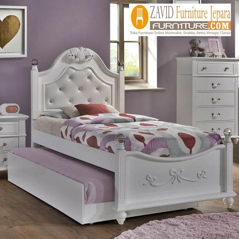 tempat-tidur-anak-sorong Jual Tempat Tidur Anak Tangerang Sorong Putih Duco