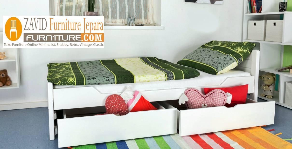 Tempat-Tidur-Anak-2-Laci-Modern Jual Tempat Tidur Denpasar Model Laci Minimalis