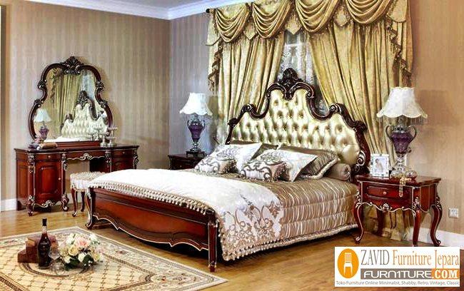 kamar-set-mewah-kayu-jati Jual Kamar Set Tangerang Mewah Kayu Jati Ukiran Modern