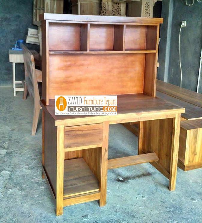 meja-belajar-kayu-jati Jual Meja Belajar Palembang Minimalis Kayu Jati