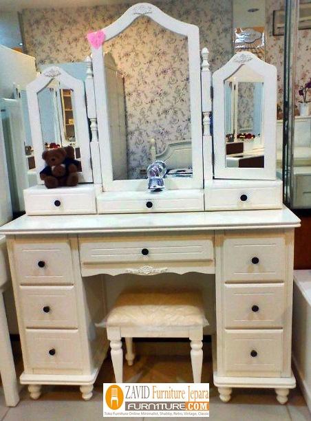 meja-rias-minimalis-duco Jual Meja Rias Denpasar Minimalis Putih Duco Terbaru