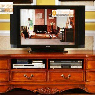 Jual Meja Tv Cirebon 6 Laci Ukiran Kayu Jati  Modern