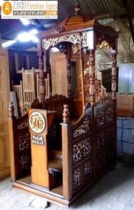 Jual Mimbar Masjid Cirebon Model Kubah Ukiran Terbaru