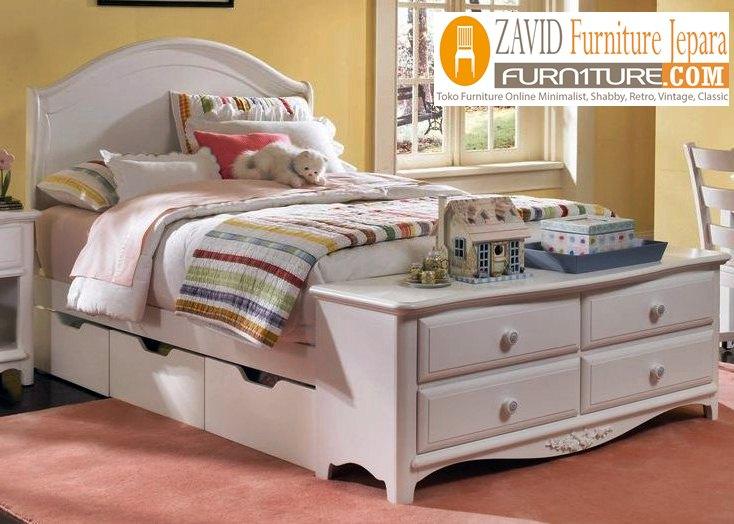 tempat-tidur-laci-putih-duco Jual Tempat Tidur Laci Banten Putih Duco Minimalis