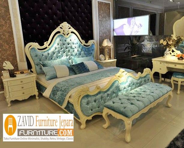 tempat tidur mewah putih duco - Jual Tempat Tidur Mewah Tangerang Modern Putih Duco Ukiran