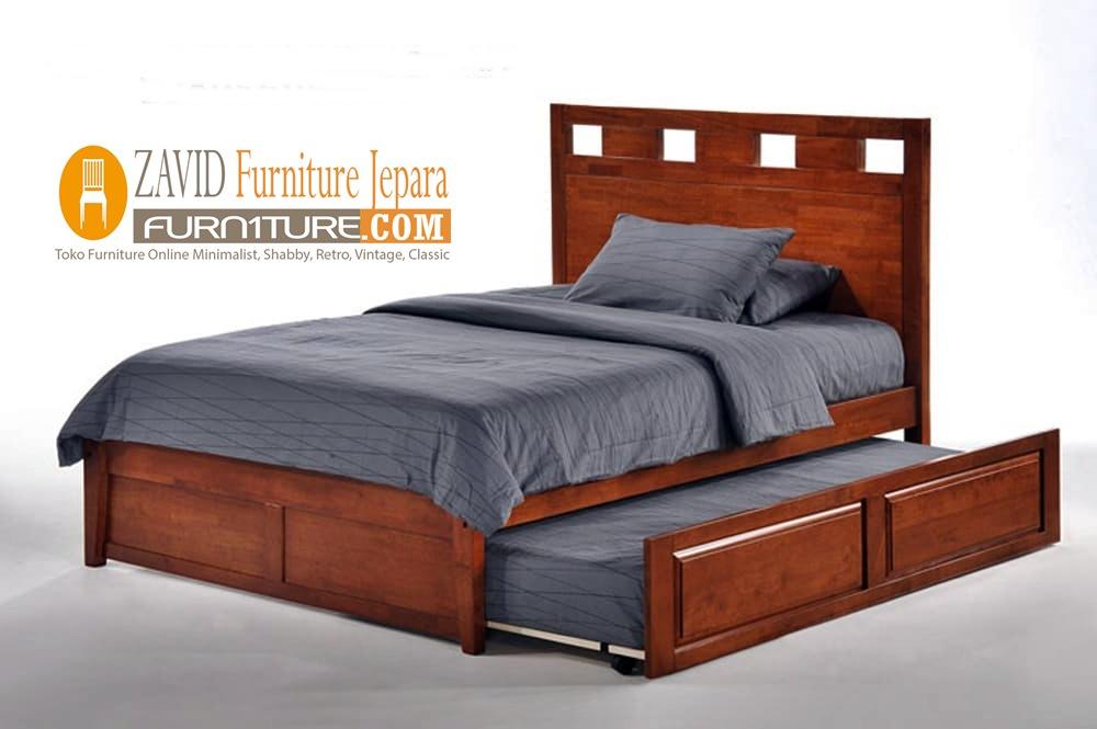 tempat tidur sorong minimalis jati - Jual Tempat Tidur Sorong Cirebon Kayu Jati Minimalis