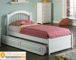 Jual Tempat Tidur Sorong Demak Putih Duco Minimalis