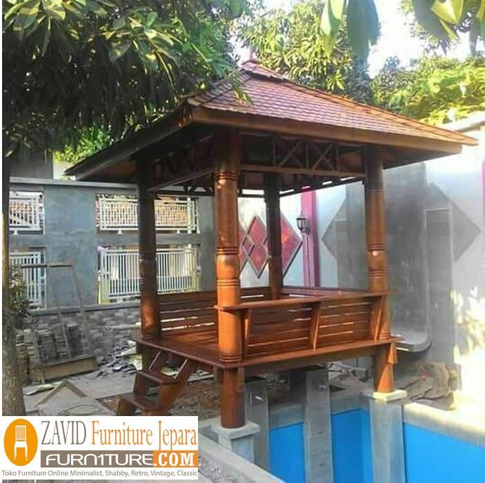 gazebo taman4 - Gazebo Taman Minimalis  Sederhana