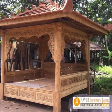 gazebo taman6 - Gazebo Taman Minimalis  Sederhana