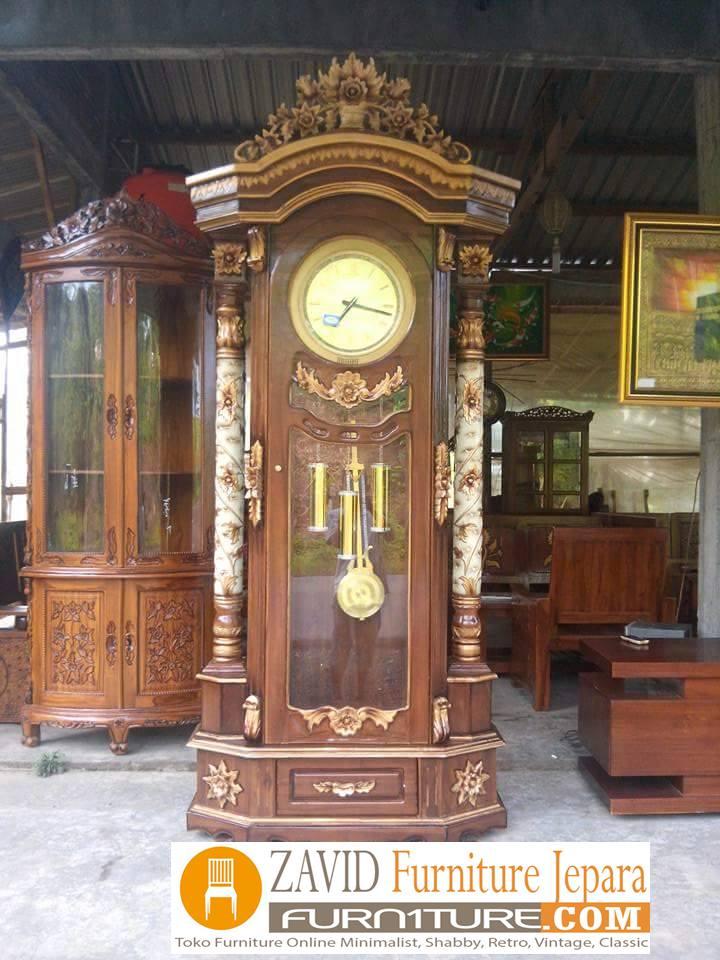 jam-bandul-mewah2 Lemari Jam Hias Jakarta Ukiran Mewah Terbaru