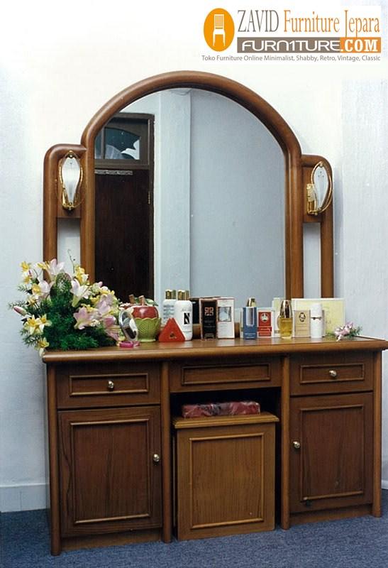 meja-rias-minimalis-kayu-jati Jual Meja Rias Kediri Kayu Jati Minimalis Model Baru