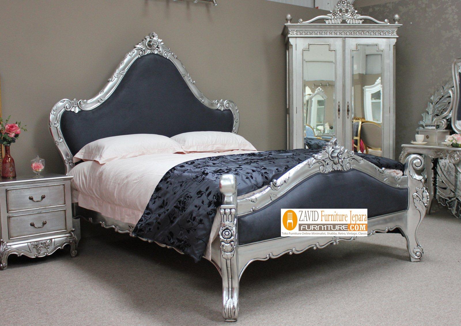 tempat-tidur-mewah1 Kamar Set Tidur Minimalis Warna silver Ukir Mewah Jepara
